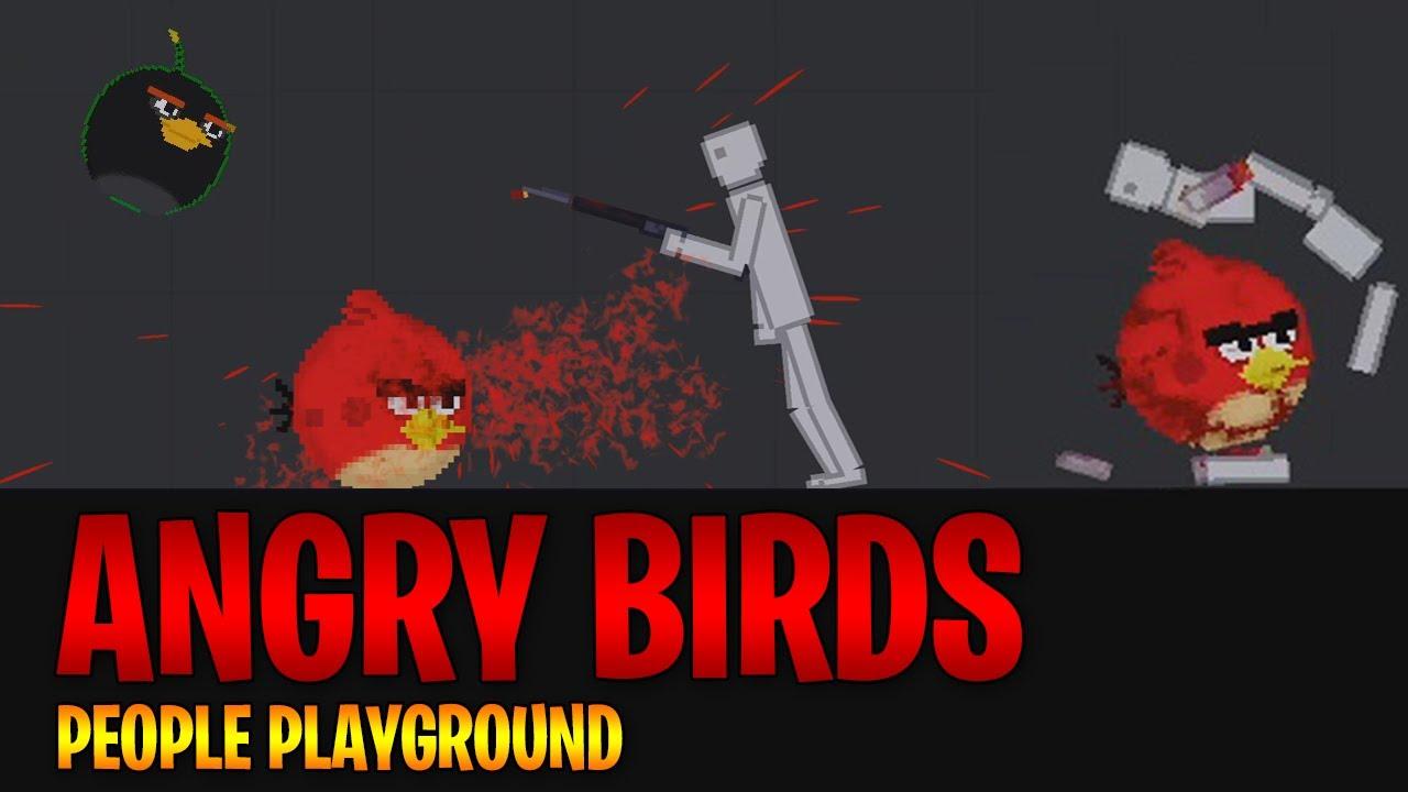 PEOPLE PLAYGROUND ANGRY BIRDS!!!