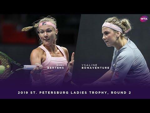 Kiki Bertens vs. Ysaline Bonaventure | 2019 St. Petersburg Ladies Trophy Second Round
