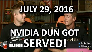 The WAN Show - NVIDIA GTX 970 Buyers All Get $30!! - July 29nd 2016