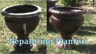 Painting old Planters