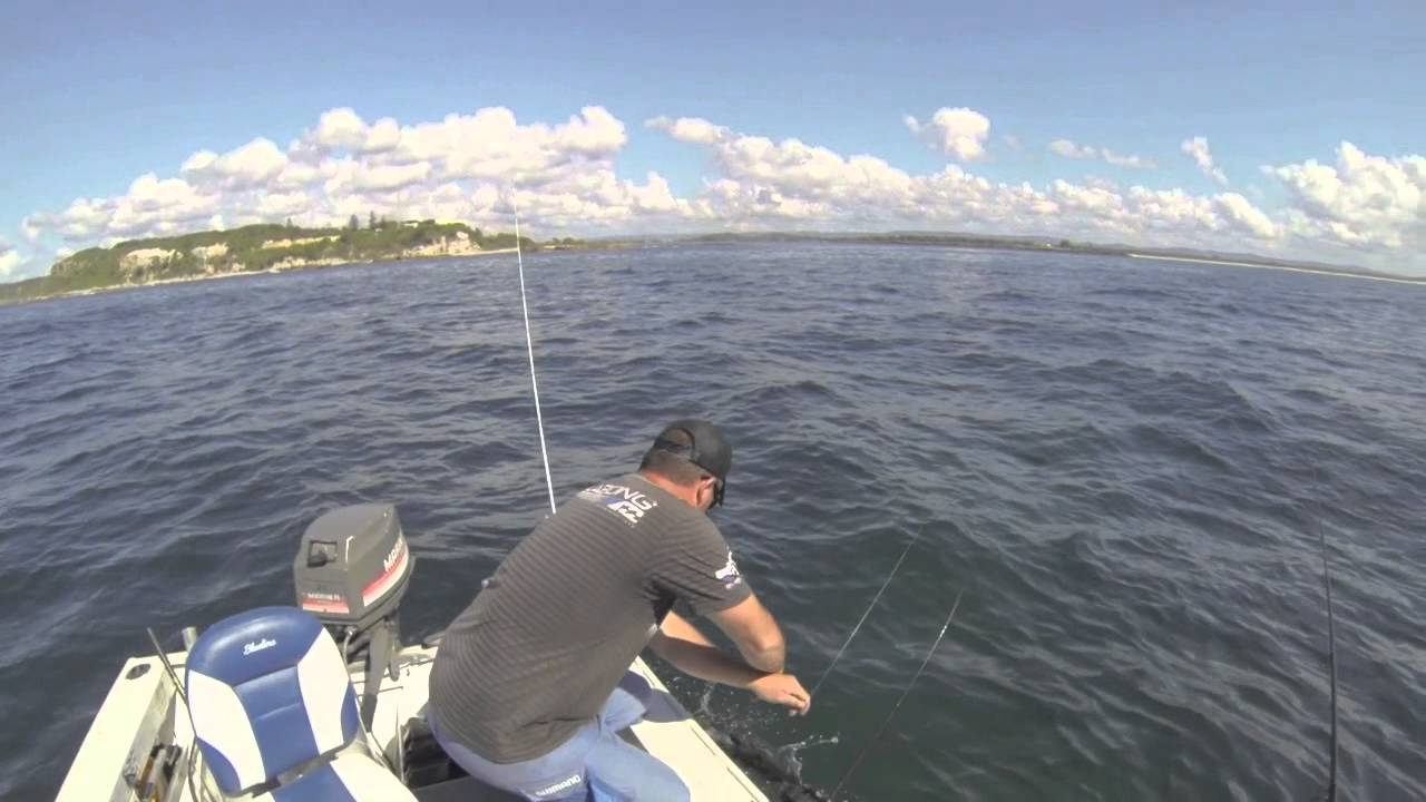 Squidding off lake macquarie - YouTube