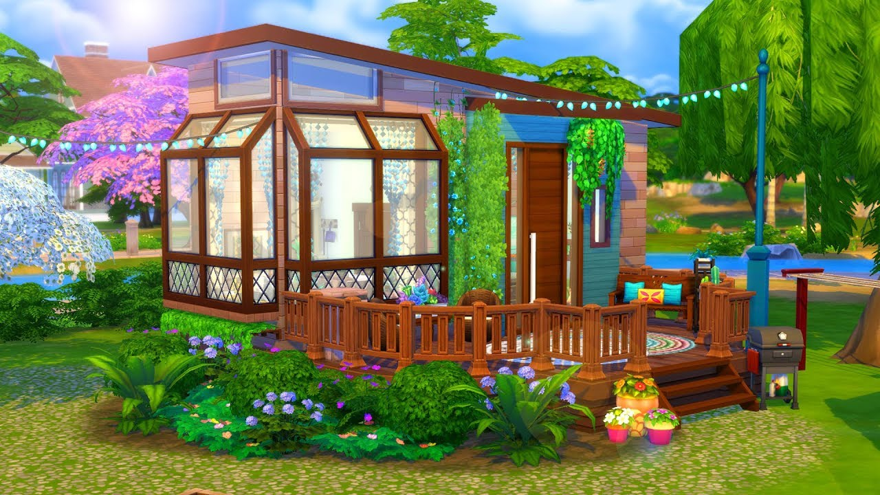 hippie tiny house      sims 4 speed build