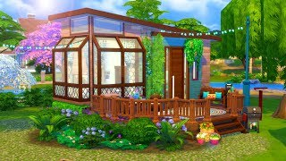 Hippie Tiny House // Sims 4 Speed Build