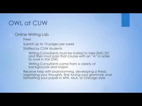 CUW Learning Resource Center for Online and Center-Based Students