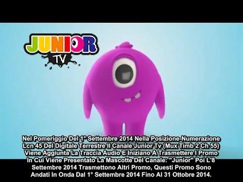 """STORIA DEL CANALE TV DIGITALE TERRESTRE: """"JUNIOR TV"""" DURATO DAL 2014 FINO AL 2015"""