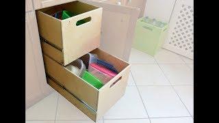 Brotzeitbox-Schublager für unsere Küche | Selber bauen | DIY | Stauraum Kisten