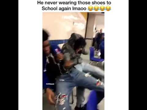 Kid gets roasted after wearing light up shoes