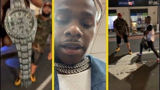 DaBaby Gets Into It With His Security For Breaking His Rolex!