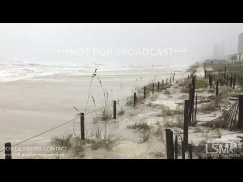 10-10-18 Panama City Beach, FL - Speed of Storm Surge Catches Photographer Off Guard