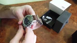 Wenger Roadster Black Dial Leather Strap watch UNBOXING & review