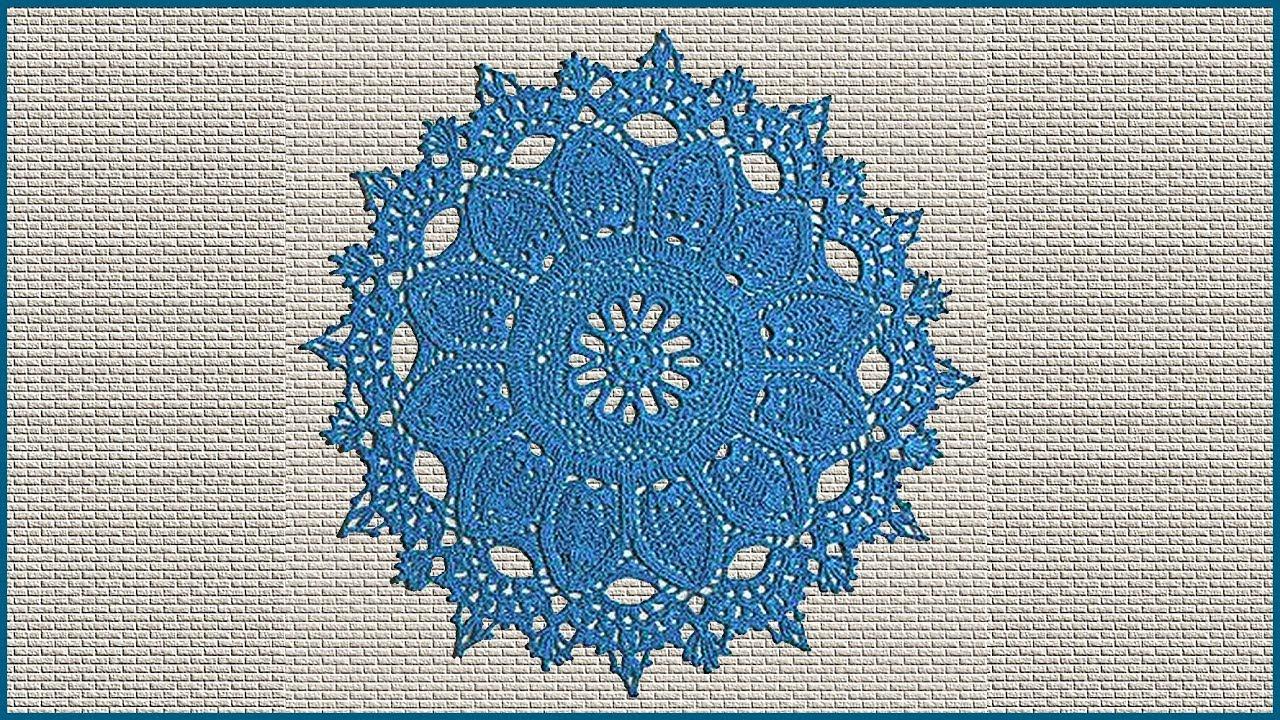 Красивая салфетка крючком. Вязание салфетки. Салфетка крючком. Часть 3. (napkin. crochet. P. 3)