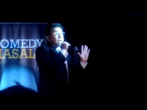 Singapore-based Filipino stand-up comic Orion performs at Comedy Masala