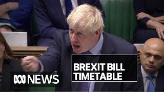 British MPs finally voted for Brexit — but rejected Boris Johnson's 'rushed' timetable | ABC News