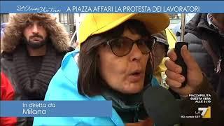 A piazza Affari la protesta dei lavoratori Italia On Line