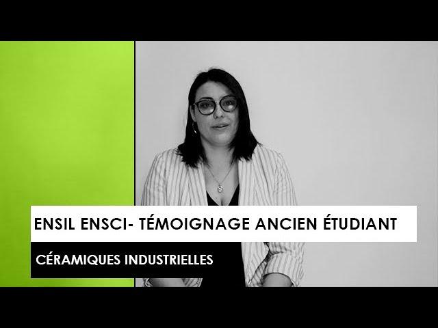 [TÉMOIGNAGE] : Mélanie, ancienne étudiante de l'ENSIL-ENSCI - Céramiques Industrielles