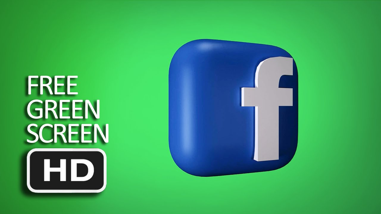 Free Green Screen - 3D Facebook Logo Spinning Loop - YouTube