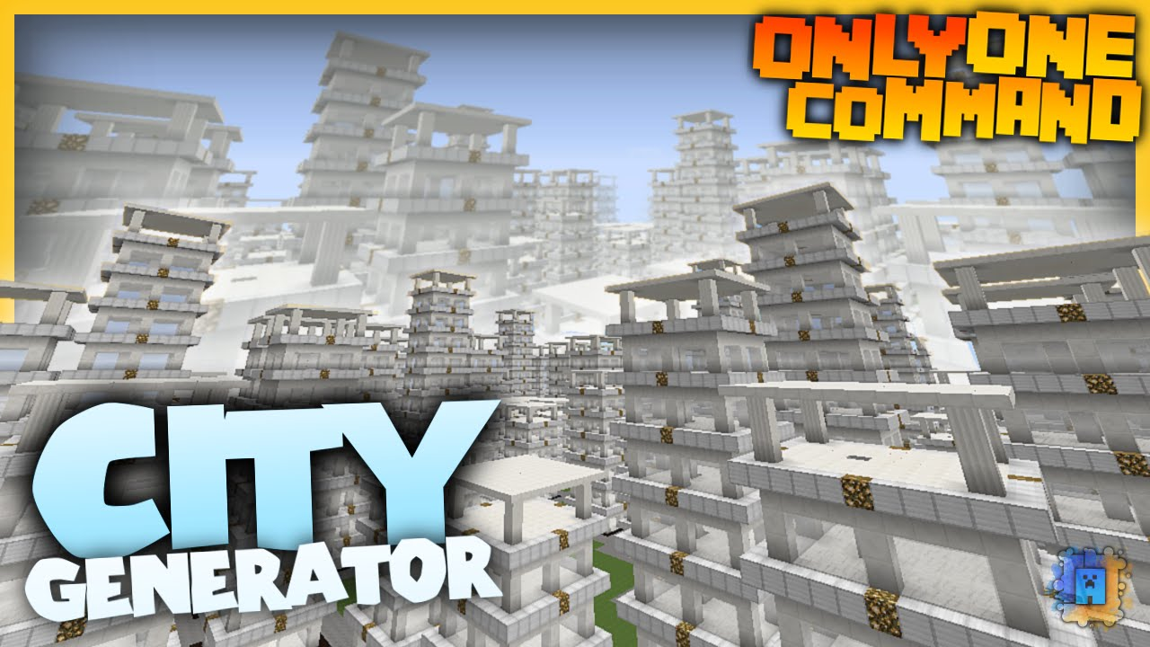 Minecraft Command: City Generator (1 8 1) | IJAMinecraft