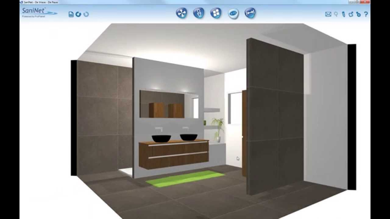 3D rendering badkamer 1avi - YouTube