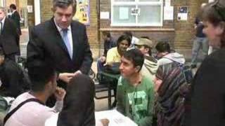 Prime Minister and John Denham at Newham Sixth Form College
