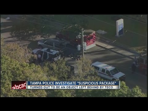 Tampa police investigate suspicious package on MLK, turned out to be bag left by TECO