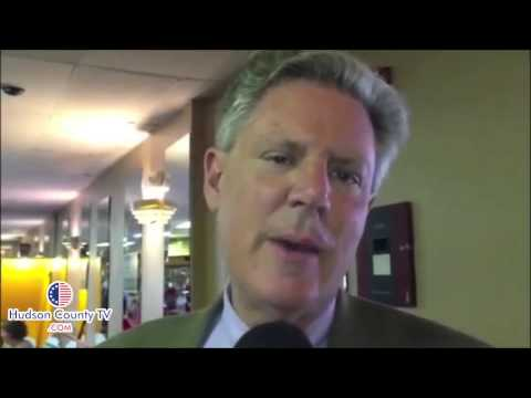 U.S. Representative Frank Pallone shows his support for Barbara Buono in Hudson County