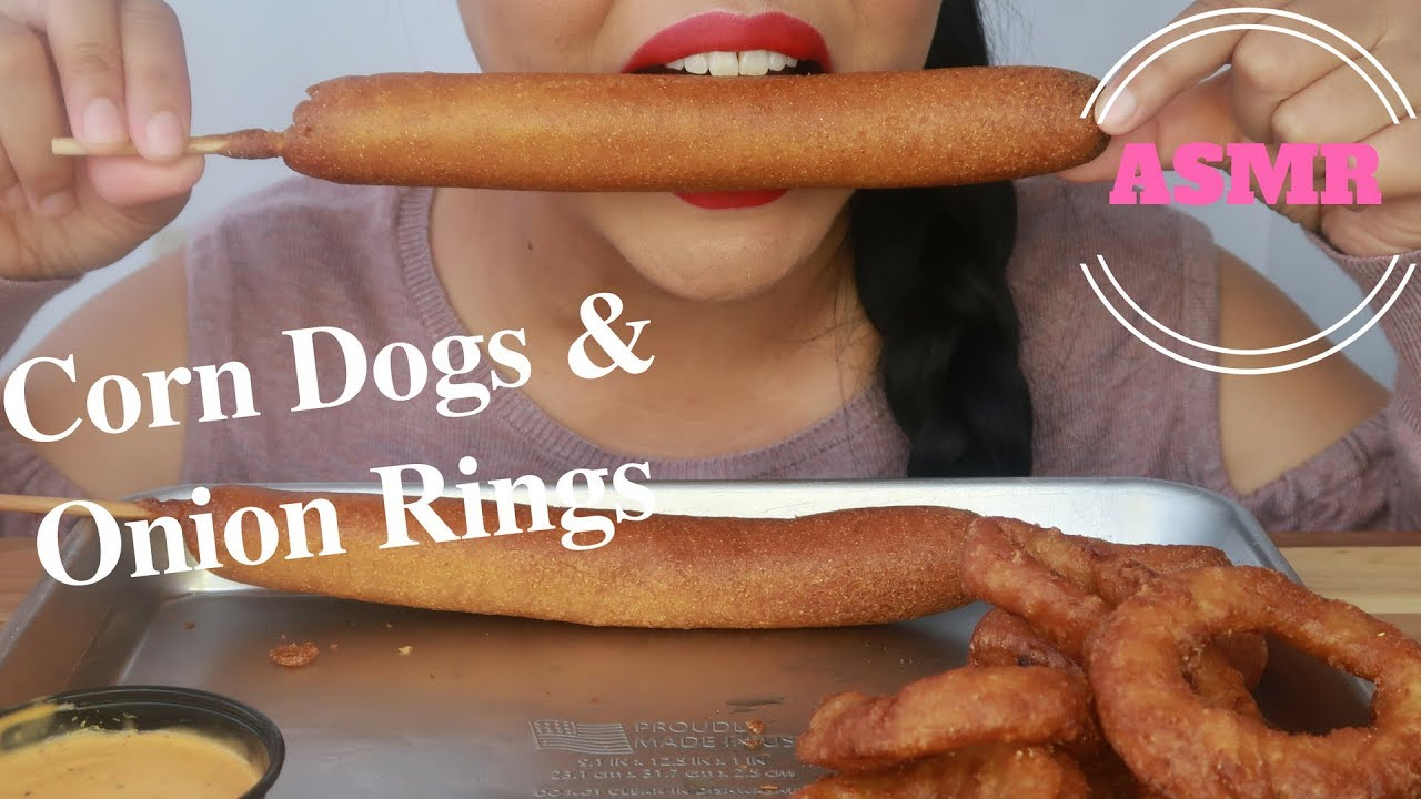 Asmr Corn Dogs Onion Rings Eating Sounds No Talking
