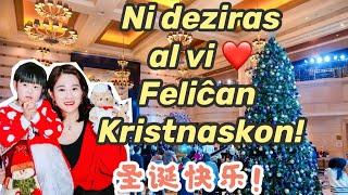 Feliĉan Kristnaskon! 圣诞快乐!Merry Christmas