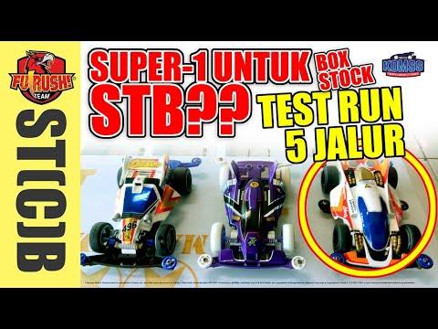 ミニ四駆 TEST RUN Super-1 Untuk STB Di Lintasan 5 Jalur (Super-1 For Box Stock Race TEST RUN)