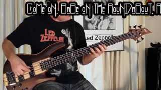 Bass Cover # 2 Living Loving Maid - Led Zeppelin [On Drum Track]
