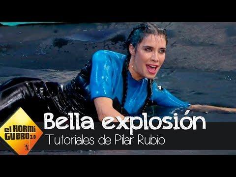 Pilar Rubio dentro de un globo de agua para mostrar la explosión más bella - El Hormiguero 3.0