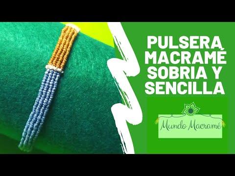 Pulsera Macramé Sencilla De Nudo Cordón Festón O Cavandoli
