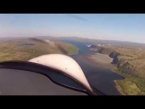 Seagull Airlines Scandinavian Tour 2014 reach the Nordkapp  landing Kirkenes ENKR RW 24