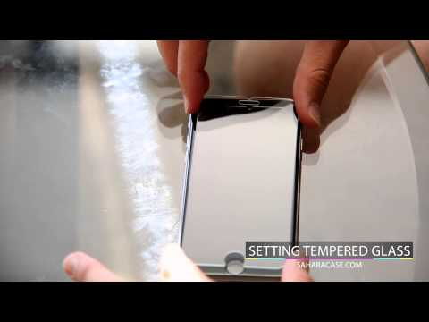How to put on a Tempered Glass Screen Protector iPhone X, 10, 8, 7, 6, SE and Plus - Saharacase.com