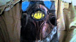 Bioshock 2 pastel drawing