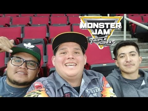 Monster Jam Triple Threat Series Fresno, CA 2018 Vlog