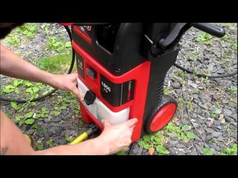 Clean Force 1800 Power Washer Review Demo Youtube