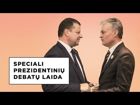 Speciali prezidentinių debatų laida. Pirmą kartą Gitanas Nausėda ir Saulius Skvernelis - akis į akį.