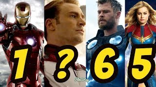 Avengers: Endgame - Ranking All The Avengers In The MCU | 2019