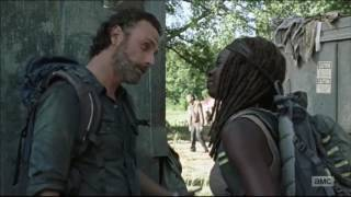 Rick and Michonne being funny assholes to each other