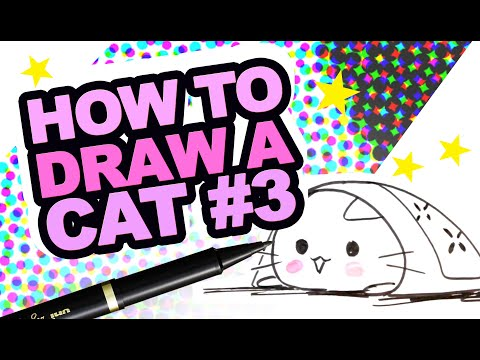 How To Draw A Cat #3 -  Drawing - Tuto - Draw