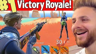 FIRST VICTORY ROYALE WITH IRAPHAHELL IN FORTNITE BUDGET!
