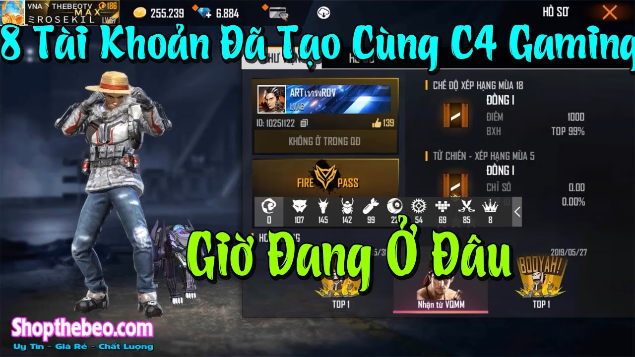 (Free Fire) 8 Tài Khoản Tạo Cùng Thời Với C4 Gaming Giờ Đang Ở Đâu - Còn Chơi FF Không??? | ThebeoTV