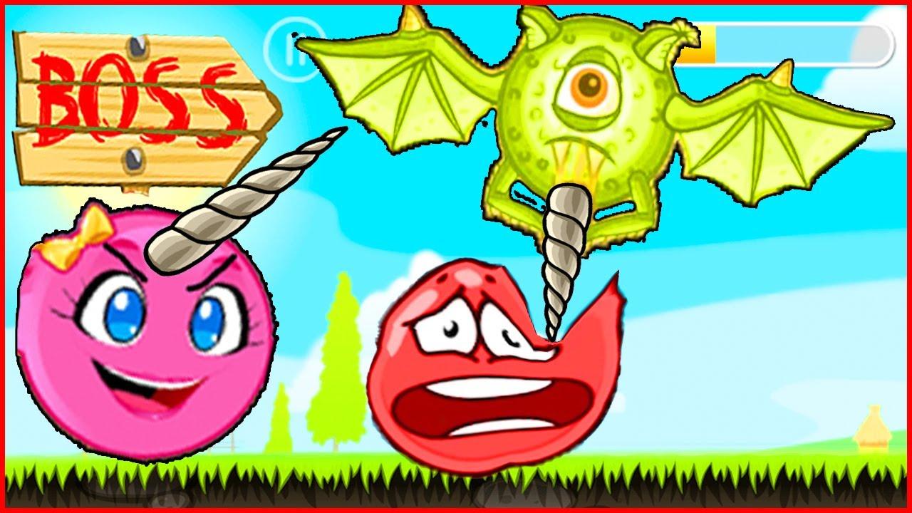 Сражение несносного красного шарика против летучей мыши.Игра Red Ball 4 от Котика Браяна про шар