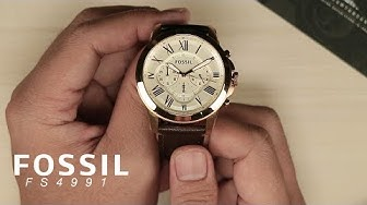 [What's Inside The Box?] Fossil FS4991 Grant Chronograph Brown Leather Watch