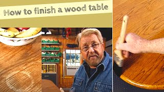 Refinish a Wood Dining Table
