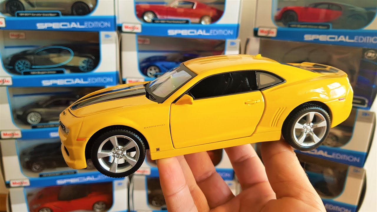 Diecast Car Maisto 1/24 Chevrolet Camaro 2010 Unboxing