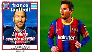 ЧТОООО ВО ФРАНЦИИ ОБЪЯВИЛИ о ТРАНСФЕРЕ МЕССИ в ПСЖ МЕССИ на обложке France Football в форме ПСЖ