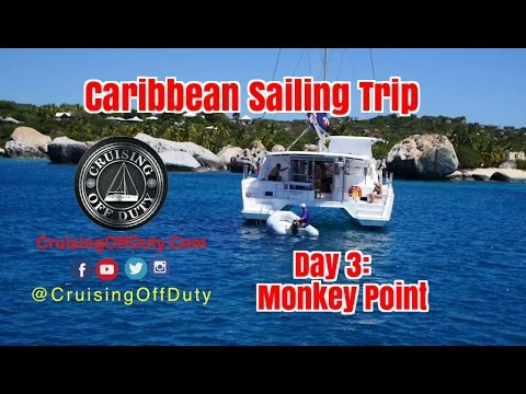 Caribbean Trip. Day 3 - The best scuba yet at Monkey Point. BVI. Ep53