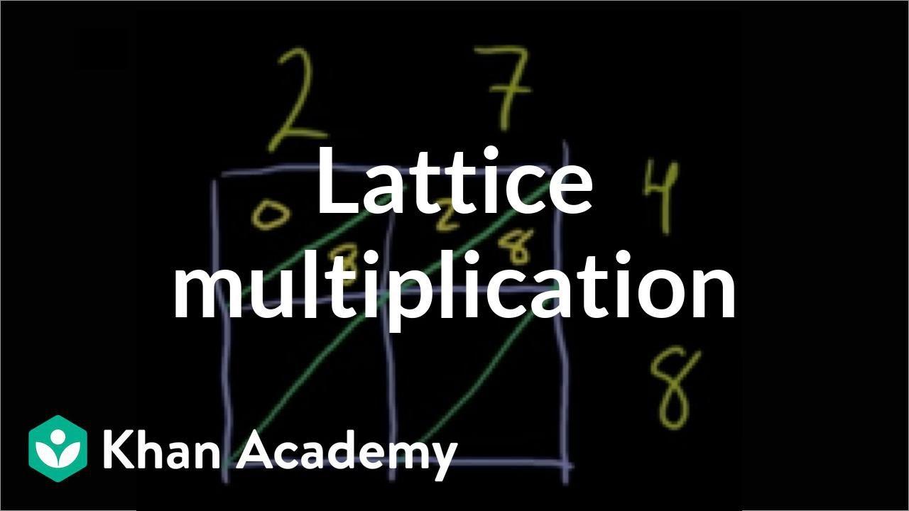 Lattice multiplication (video)   Khan Academy [ 720 x 1280 Pixel ]