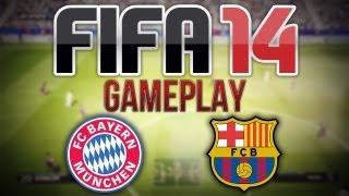 FIFA 14 EXCLUSIVE GAMEPLAY - Barcelona vs Bayern Munich - 1st Half!